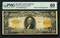 Fr. 1187 $20 1922 Gold Certificate PMG Extremely Fine 40