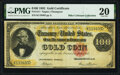 Large Size:Gold Certificates, Fr. 1211 $100 1882 Gold Certificate PMG Very Fine 20.. ...