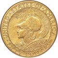 Commemorative Gold, 1915-S $50 Panama-Pacific 50 Dollar Round MS64+ NGC. CAC....