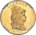 Early Quarter Eagles, 1796 $2 1/2 No Stars on Obverse, BD-2, R.4, MS62 NGC....