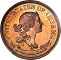 Patterns, 1870 50C Standard Silver Half Dollar, Judd-990, Pollock-1119, High R.7, PR66+ Red and Brown PCGS. CAC. EX: Simpson....