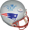 Football Collectibles:Helmets, 2002 Tom Brady Signed & Inscribed New England Patriots Helmet - Limited Edition (16/36)....