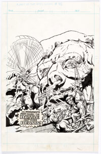 Jeff Aclin and Duffy Vohland Planet of the Apes #91 Cover Original Art (Marvel UK, 1976)