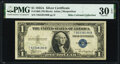 Small Size:Silver Certificates, Henry Morgenthau, Jr. Courtesy Autographed Fr. 1608 $1 1935A Silver Certificate. PMG Very Fine 30 EPQ.. ...