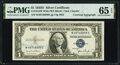 Small Size:Silver Certificates, Georgia Neese Clark Courtesy Autographed Fr. 1613W $1 1935D Wide Silver Certificate. PMG Gem Uncirculated 65 EPQ.. ...