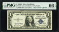 John W. Snyder Courtesy Autographed Fr. 1613N* $1 1935D Narrow Silver Certificate Star. PMG Gem Uncirculated 66 EPQ