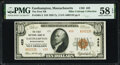 Easthampton, MA - $10 1929 Ty. 2 The First National Bank Ch. # 428 PMG Choice About Unc 58 EPQ