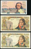 France Banque de France Group Lot of 3 Examples Very Fine-Extremely Fine. ... (Total: 3 notes)