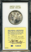 Additional Certified Coins: , 1881 $1 Morgan Dollar MS65 MTB Banking Corporation (MS64).
