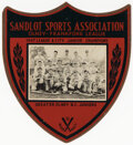 Baseball Collectibles:Others, 1947 Junior Baseball Championship Wooden Plaque....