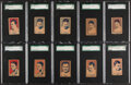 Boxing Cards:General, 1928 W513 Strip Card Boxing PSA & SGC Graded Collection (23)....