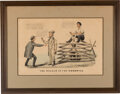 Political:Posters & Broadsides (pre-1896), [Abraham Lincoln]: Hand Colored Racist Currier & Ives Cartoon. ...