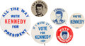 Political:Pinback Buttons (1896-present), John F. Kennedy: Collection of Buttons and Campaign Disc....