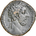 Ancients:Roman Imperial, Ancients: Commodus, as Augustus (AD 177-192). AE sestertius (29mm, 20.75 gm, 6h). NGC VF....