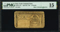 Colonial Notes:New York, New York April 20, 1756 5 Pounds Fr. 151 PMG Choice Fine 15.. ...