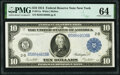 Fr. 911a $10 1914 Federal Reserve Note PMG Choice Uncirculated 64
