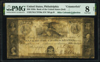 Philadelphia, PA - Bank of the United States $50 Contemporary Counterfeit June 7, 1823 Haxby US-2 Unlisted CTF50a PMG Ve...