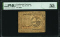 Continental Currency May 10, 1775 $2 PMG About Uncirculated 55