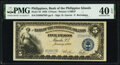 Philippines Bank of the Philippine Islands 5 Pesos 1.1.1928 Pick 16 PMG Extremely Fine 40 EPQ