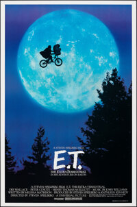 """E.T. The Extra-Terrestrial (Universal, 1982). Rolled, Very Fine/Near Mint. One Sheet (26.75"""" X 40.5"""") Bicycle..."""
