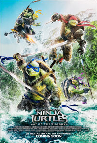 Teenage Mutant Ninja Turtles: Out of the Shadows & Other Lot (Paramount, 2016). Rolled, Overall: Very Fine. One Shee...