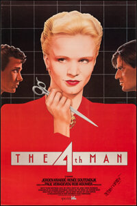 """The 4th Man (Spectrafilm, 1984). Rolled, Very Fine. Autographed Full-Bleed One Sheet (27"""" X 40.75"""") Vincent To..."""