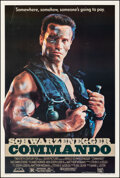 """Movie Posters:Action, Commando (20th Century Fox, 1985). Fine/Very Fine on Linen. Autographed One Sheet (27.25"""" X 40.75""""). Action.. ..."""
