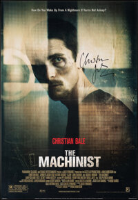 """The Machinist (Paramount Classics, 2004). Very Fine- on Linen. Autographed One Sheet (27.5"""" X 39.75"""") Style A..."""