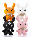 Collectible, Frank Kozik X Kidrobot. Smorkin' Dunny (four works), c. 2006. Painted cast vinyl. 8 inches (20.3 cm) high (each). Each s... (Total: 4 Items)