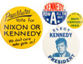 Political:Pinback Buttons (1896-present), John F. Kennedy: Group of Four Buttons....