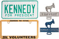Political:3D & Other Display (1896-present), John F. Kennedy: Four License Plate Attachments.... (Total: 4 Items)