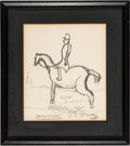 Autographs:U.S. Presidents, Robert F. Kennedy: Signed Sketch Presented to Jacqueline Kennedy....