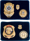 Political:Inaugural (1789-present), Donald Trump: Two Sets of Inauguration Police Badges.... (Total: 6 Items)