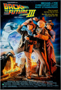 Movie/TV Memorabilia:Autographs and Signed Items, Back to the Future Part III Cast Signed Movie Poster....
