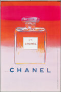 """Movie Posters:Miscellaneous, Chanel No. 5 by Andy Warhol (Chanel, 1997). Rolled, Very Fine. Advertising Poster (47"""" X 71"""") Red/Pink Style. Miscellaneous...."""