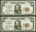 Fr. 1880-L $50 1929 Federal Reserve Bank Notes. Two Consecutive Examples. Very Fine-Extremely Fine or Better