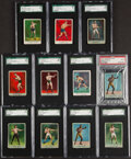 Boxing Cards:General, 1910-11 T225 Khedival Co., Surbrug & Blank Back Prize Fight Series No. 101 & 102 Boxing PSA/SGC Graded Collection (11). ...