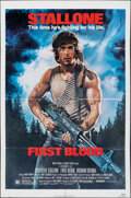 """Movie Posters:Action, First Blood (Orion, 1982). Folded, Fine+. One Sheet (27"""" X 41"""") Drew Struzan Artwork. Action.. ..."""