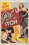 """Movie Posters:Bad Girl, Girl with an Itch (Howco, 1958). Folded, Fine/Very Fine. One Sheet (27"""" X 41""""). Bad Girl.. ..."""