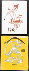 """Movie Posters:Animation, Bambi & Other Lot (Buena Vista, R-1988). Overall: Very Fine-. Presskits (2) (9"""" X 12"""" & 9.5"""" X 12"""") with Photos (26) (8"""" X 1... (Total: 28 Items)"""
