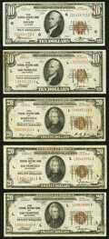 Fr. 1860-G; L $10 1929 Federal Reserve Bank Notes. Very Fine or Better; Fr. 1870-I; L (2) $20 1929 Federal Rese