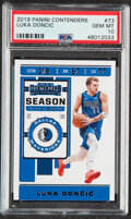 Basketball Cards:Singles (1980-Now), 2019 Panini Contenders Luka Doncic #73 PSA Gem Mint 10. ...