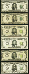 Fr. 1951-C $5 1928A Federal Reserve Note. Very Good; Fr. 1952-A $5 1928B Dark Green Seal Federal Reserve Note. ... (Tota...