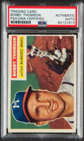 Autographs:Sports Cards, Signed 1956 Topps Bobby Thomson #257 PSA/DNA Authentic. ...