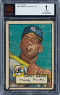 Baseball Cards:Singles (1950-1959), 1952 Topps Mickey Mantle #311 BVG Poor 1....