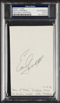 Autographs:Index Cards, Earl Campbell Signed Index Card, PSA/DNA Authentic. ...