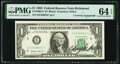 C. Douglas Dillon Courtesy Autographed Fr. 1900-E* $1 1963 Federal Reserve Star Note. PMG Choice Uncirculated 64 EPQ...