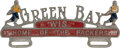 Football Collectibles:Others, 1930's Green Bay Packers Decorative License Plate Display. ...