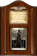 Baseball Collectibles:Others, 1963 Hank Aaron 300th Home Run Trophy with Photo Style Match from Yearbook. ...