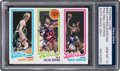 Basketball Cards:Singles (1980-Now), Signed 1980 Topps Bird/Erving/Johnson PSA/DNA Gem Mint 10 - Signed by All Three! ...